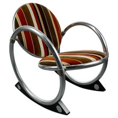 'Dondolo' Rocking Chairs with Tubular Frame by Verner Panton