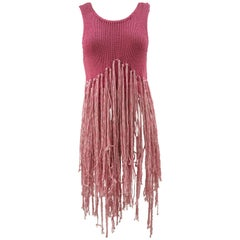 Dondup limited edition pink fringes t-shirt