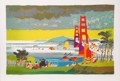San Francisco Golden Gate Bridge by Dong Kingman