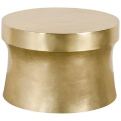 Dong Shan Table, Brass by Robert Kuo, Hand Repousse, Limited Edition