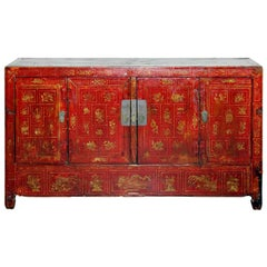 Dongbei Red Sideboard