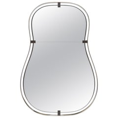 Donghia Anjou Mirror in Nickel & Brushed Gold Finishes