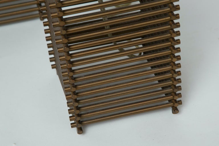 Donghia Brass Grid Lamps For Sale 1