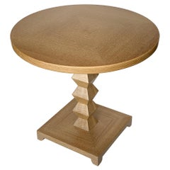 Donghia Cerused Oak Jmf Jean-Michel Frank Occasional End Table