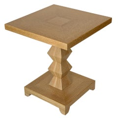 Donghia Cerused Oak JMF Jean-Michel Frank Side Table