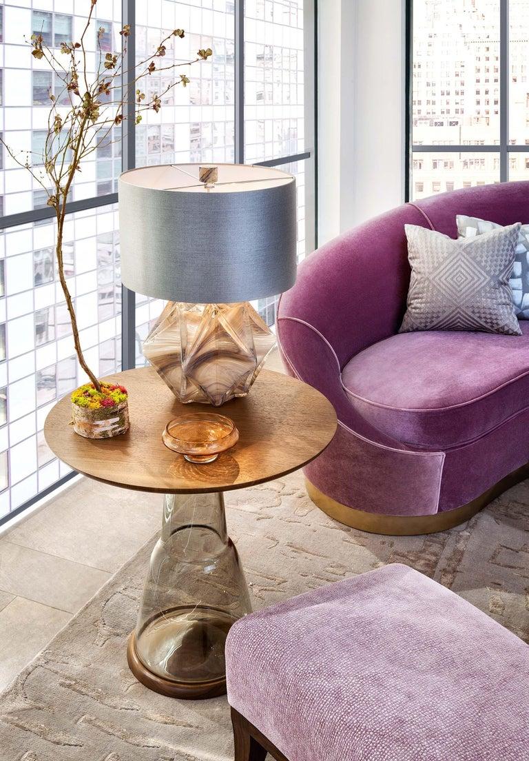 Donghia Curve Sofa in Gray Ash Mohair Velvet For Sale 6
