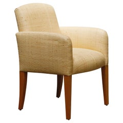 Donghia Custom Ordered Woven Grasscloth 'Plaza' Armchair, 1992