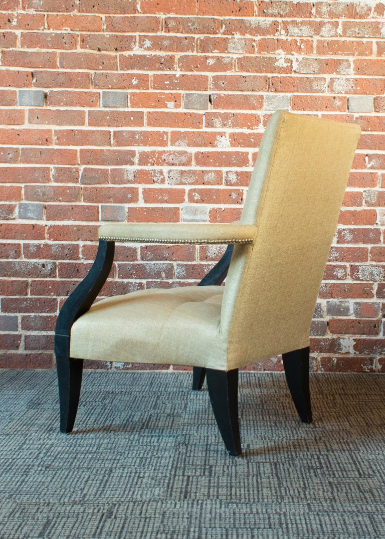 Painted Donghia Eaton Fauteuil Chair For Sale