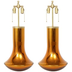 Donghia Gold Murano Glass Lamps