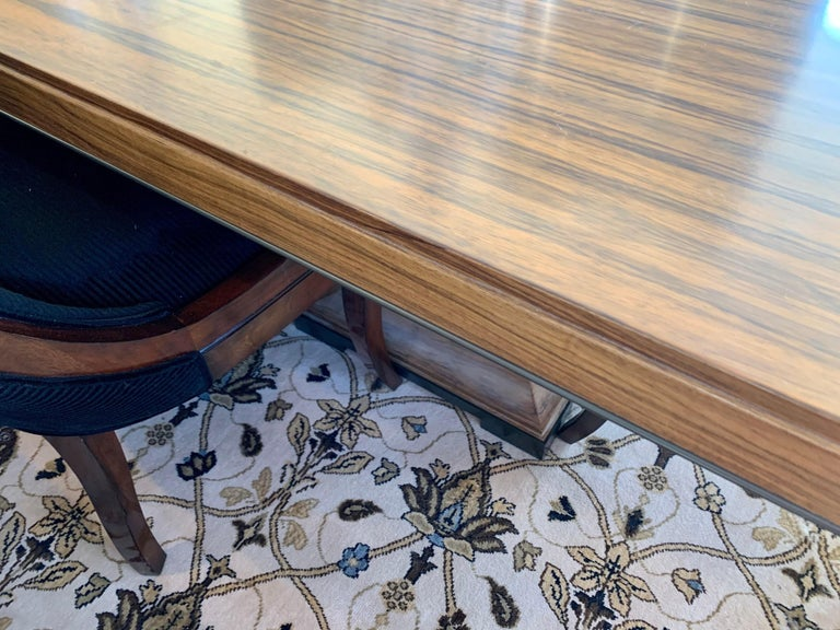 Donghia London Laurent Eight Foot Dining Room Table and Six Henredon Chairs For Sale 4