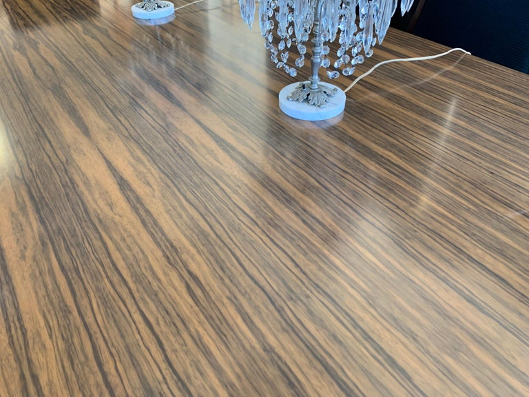 Donghia London Laurent Eight Foot Dining Room Table and Six Henredon Chairs For Sale 6