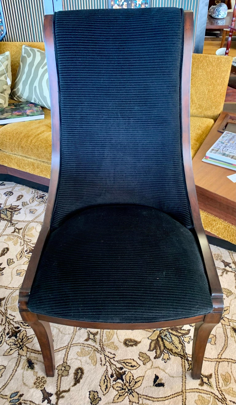 Donghia London Laurent Eight Foot Dining Room Table and Six Henredon Chairs For Sale 9