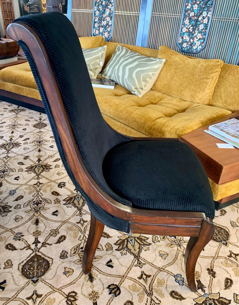Donghia London Laurent Eight Foot Dining Room Table and Six Henredon Chairs For Sale 12