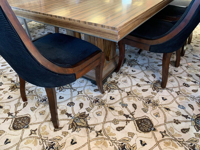 Donghia London Laurent Eight Foot Dining Room Table and Six Henredon Chairs For Sale 1