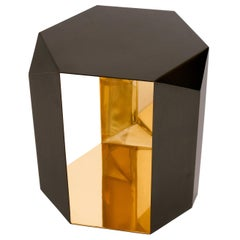 Donghia Origami Occasional Table, Hand-Rubbed Patina Exterior