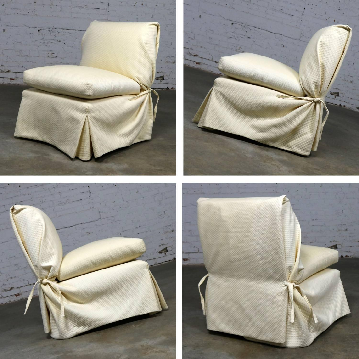 Donghia Slipper Chair By Angelo Donghia, One Slipcovered One Not For Sale  At 1stdibs