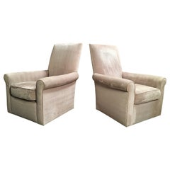 "Donghia ""St. James"" Swivel Lounge Chairs"