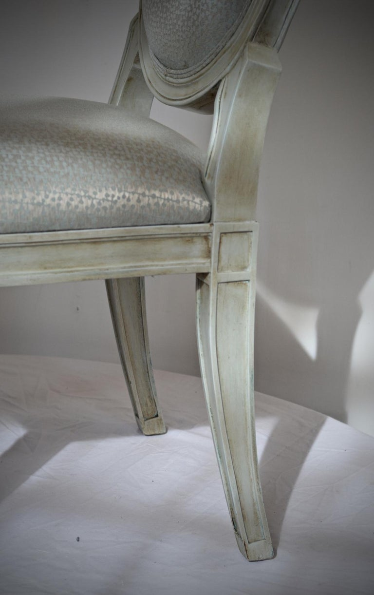 Donghia Style Dining Chairs in a Painted Finish, Set of 6 For Sale 2