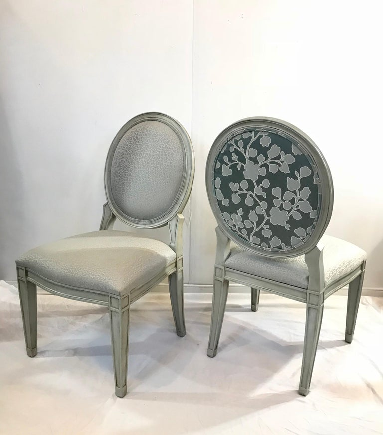 Donghia Style Dining Chairs in a Painted Finish, Set of 6 For Sale 3