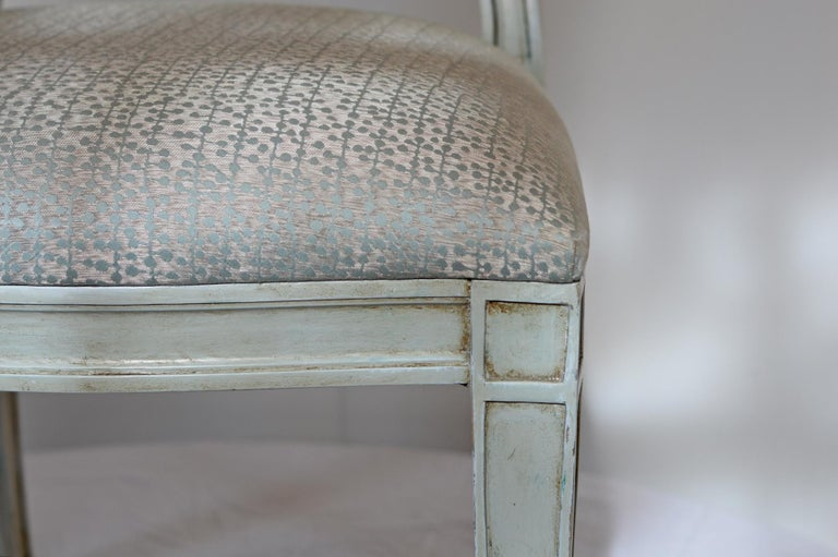 20th Century Donghia Style Dining Chairs in a Painted Finish, Set of 6 For Sale