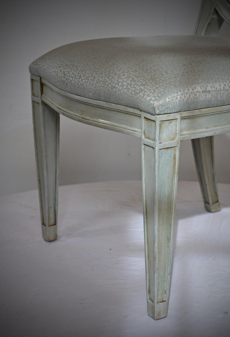 Donghia Style Dining Chairs in a Painted Finish, Set of 6 For Sale 1