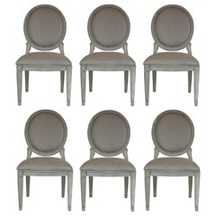 Donghia Style Dining Chairs in a Painted Finish, Set of 6