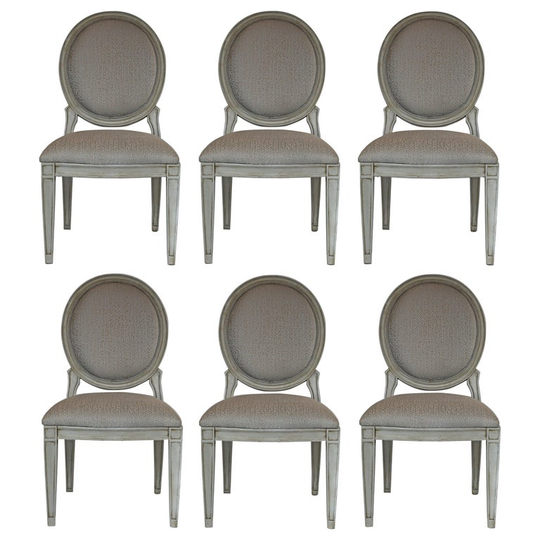Donghia Style Dining Chairs in a Painted Finish, Set of 6 For Sale