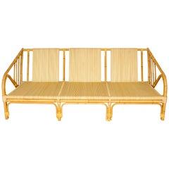 Donghia Three-Seat Rattan Sofa