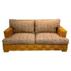 "Donghia Woven Rattan ""Block Island"" Sofa by John Hutton"