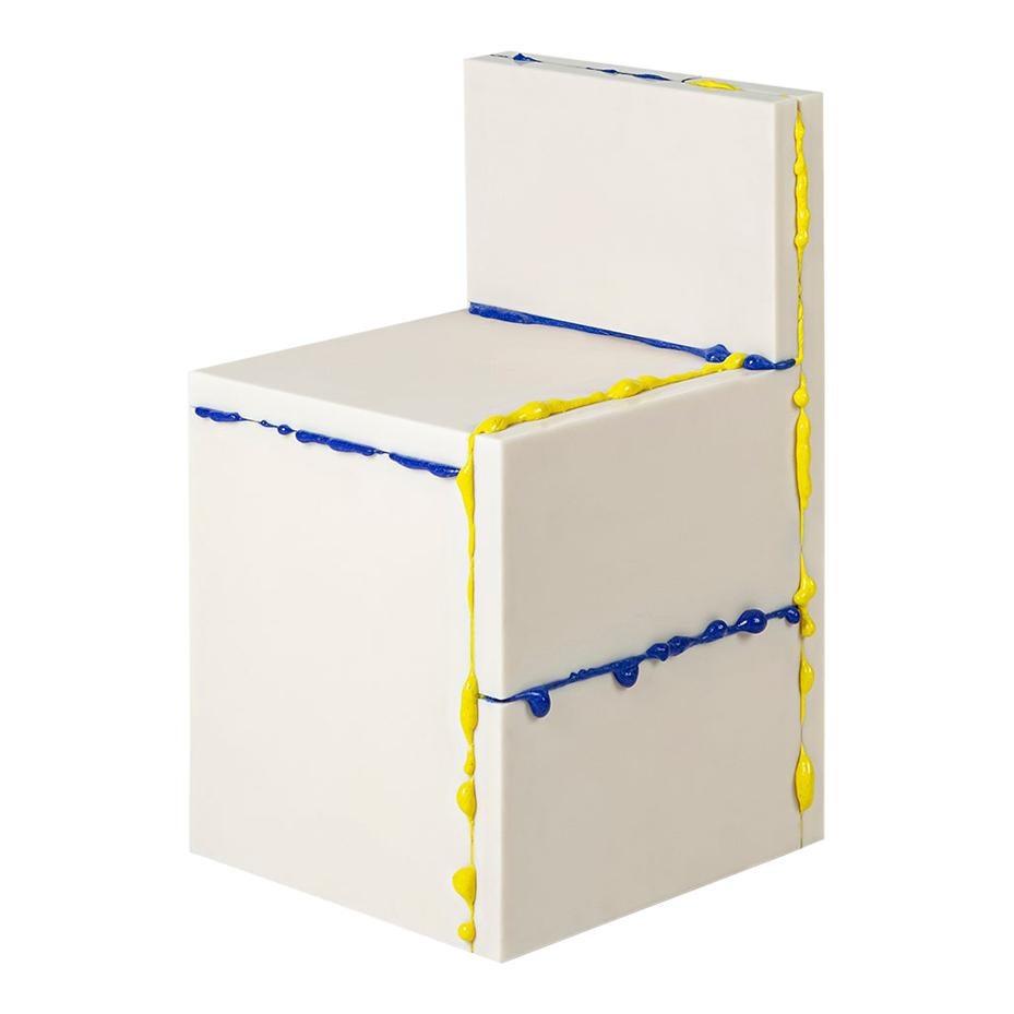 Donghoon Shon Contemporary Plastic Chair Blue Yellow Korean Design, 2021