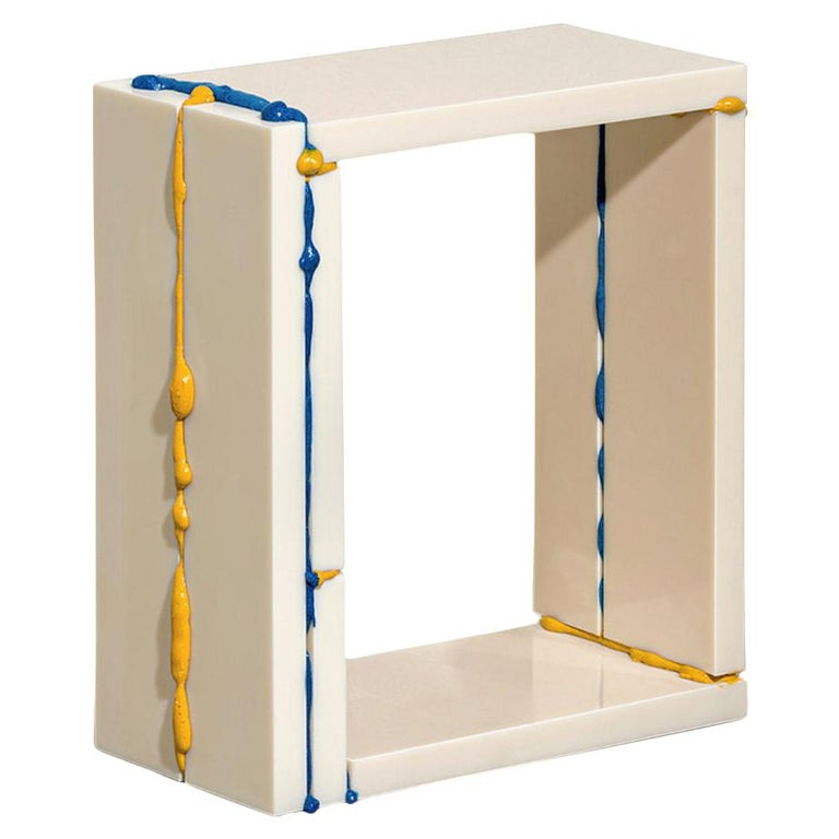 """Donghoon Shon Contemporary Side Table from """"BSP"""" Series Plastic and Solvent 2021 For Sale"""