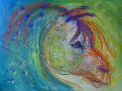 Circus Horse, Painting, Acrylic on Canvas