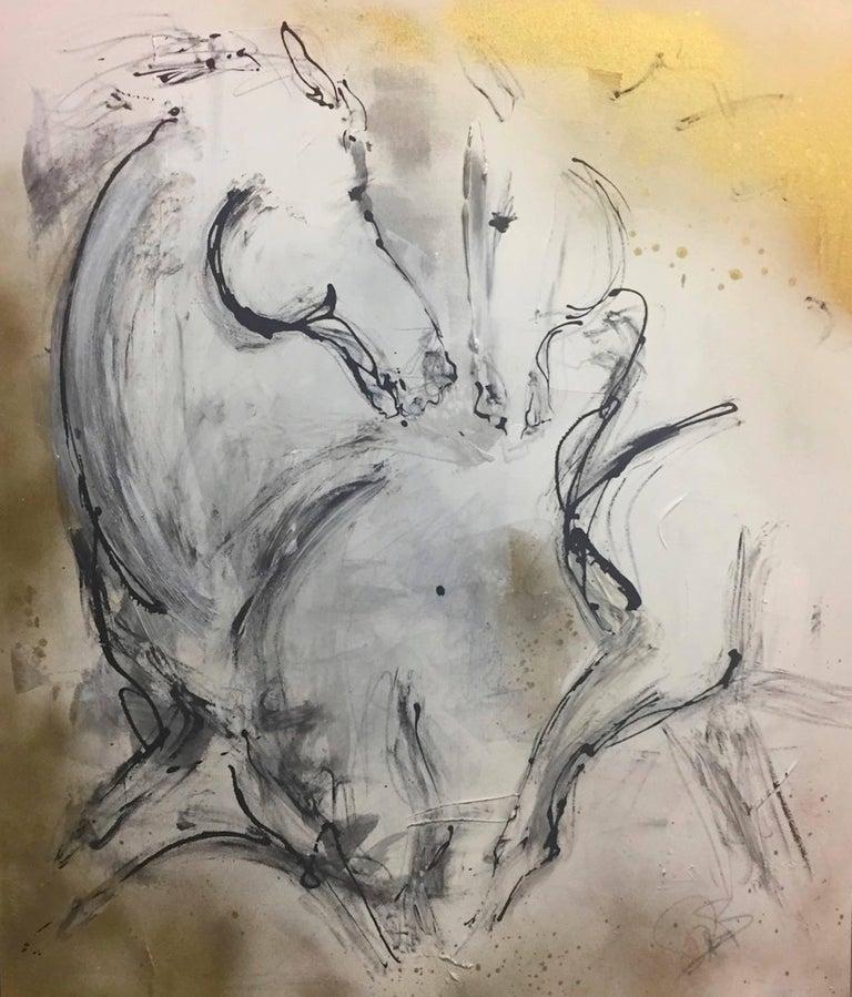 Donna Bernstein Animal Painting - Where We Meet
