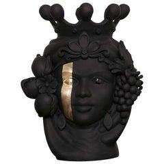 Donna Carmela Black Vase
