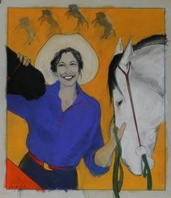 Primary Colors (cowgirl, horses, orange)