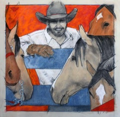 Well His Horses Like Him (Cowboy, horses, western, intimate, red, white, blue)