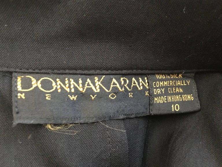 Donna Karan 1980s Black Silk Wrap Dress Size 8. For Sale 5