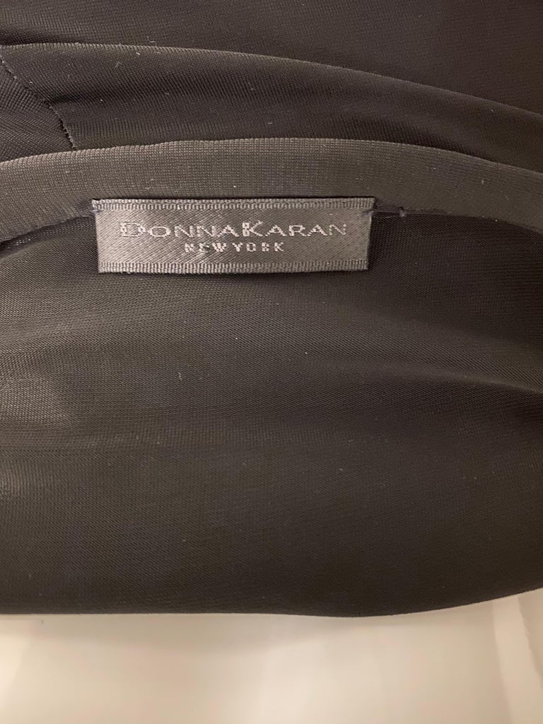 Women's Donna Karan Black Jersey Cocktail Dress For Sale