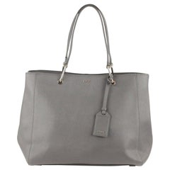 Donna Karan DKNY Gray Saffiano Leather Tote Bag