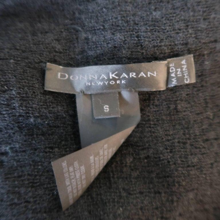 Donna Karan Black Sequined Cashmere / Silk Drape Cardigan For Sale 4