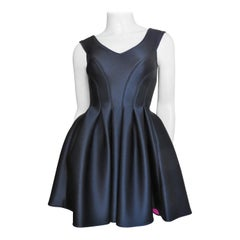 Donna Karan Skater Dress with Lace up Back 1994