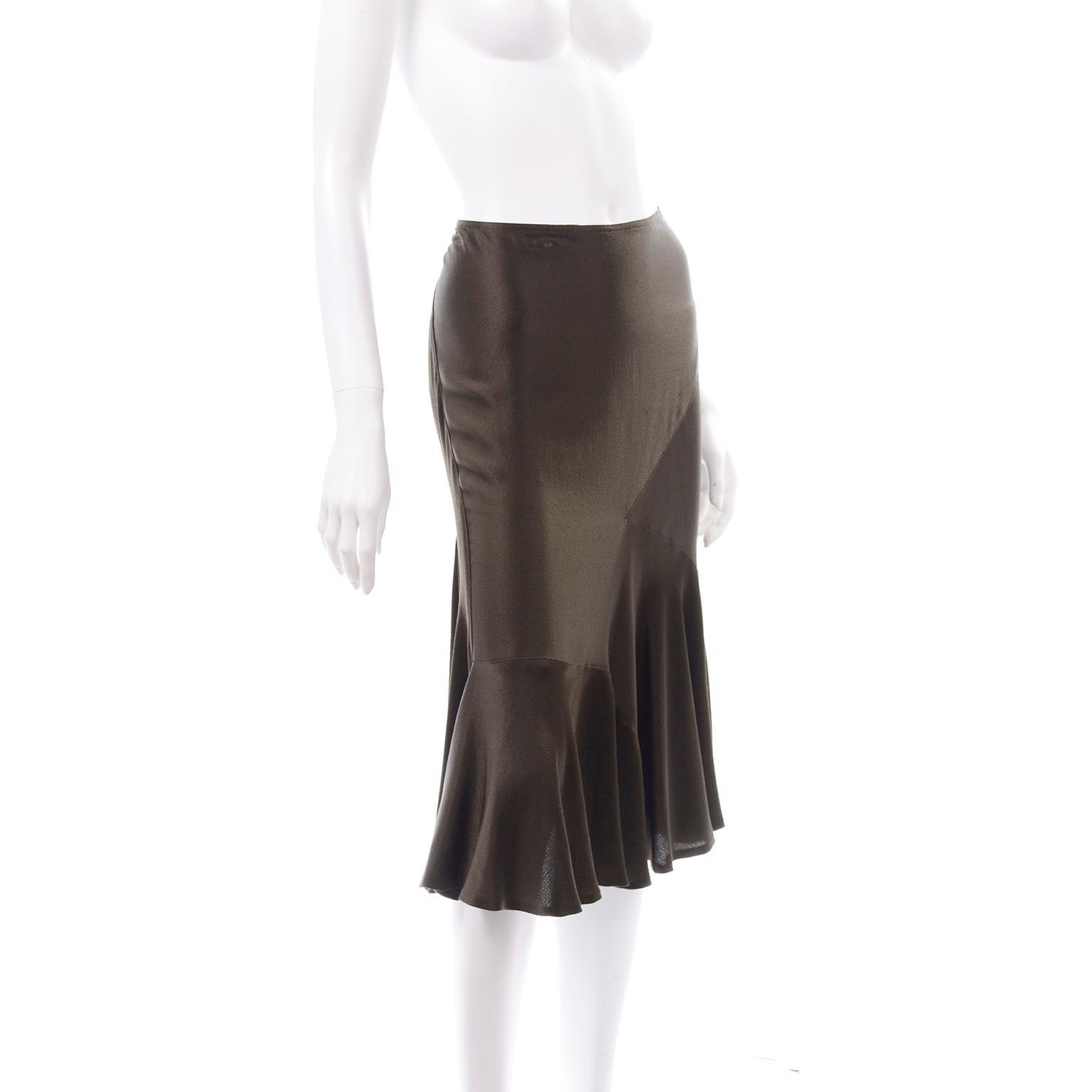 Vintage Donna Karan Black Short Skirt with Slit the side