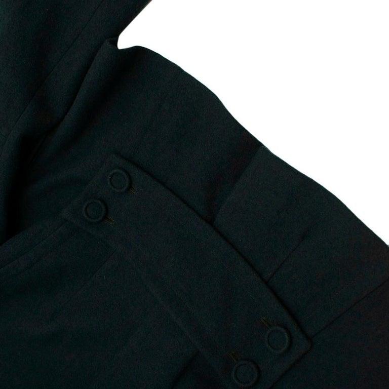 Donna Karan Wool Green Jacket - Size US 14 For Sale 5