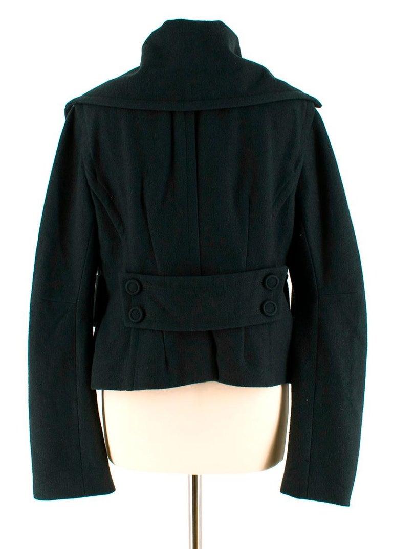 Black Donna Karan Wool Green Jacket - Size US 14 For Sale