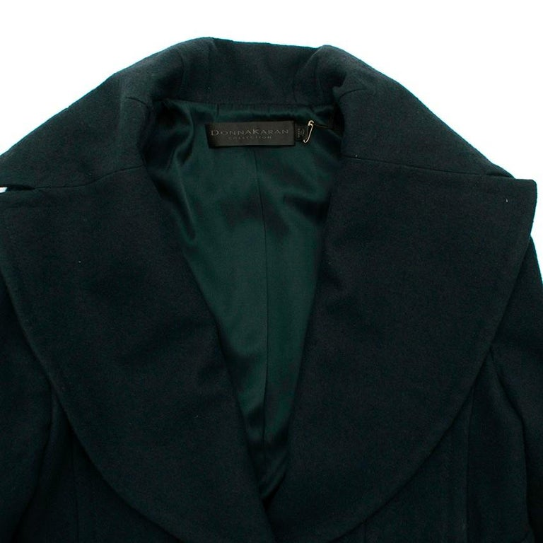 Donna Karan Wool Green Jacket - Size US 14 In New Condition For Sale In London, GB