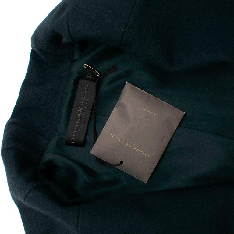 Women's Donna Karan Wool Green Jacket - Size US 14 For Sale