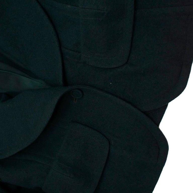 Donna Karan Wool Green Jacket - Size US 14 For Sale 1
