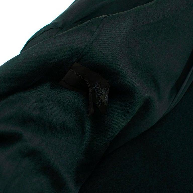 Donna Karan Wool Green Jacket - Size US 14 For Sale 2
