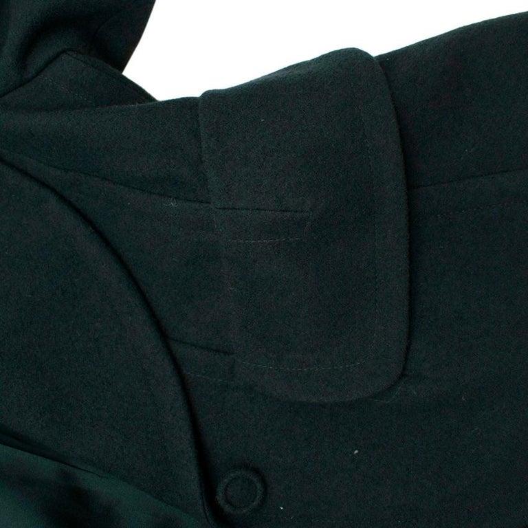 Donna Karan Wool Green Jacket - Size US 14 For Sale 3