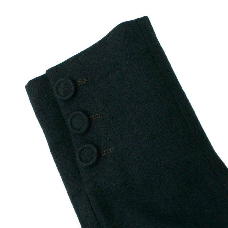 Donna Karan Wool Green Jacket - Size US 14 For Sale 4